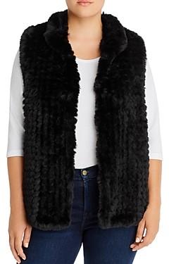 Aqua Curve Faux Fur Vest - 100% Exclusive