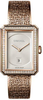 Chanel BOY&middotFRIEND TWEED WATCH WITH DIAMONDS