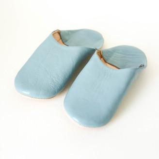 Bohemia Pearl Grey Moroccan Babouche Slippers - Small - Grey