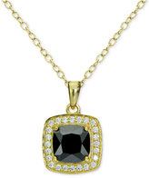 Giani Bernini Cubic Zirconia Halo Pendant Necklace in 18k Gold-Plated Sterling Silver, Only at Macy's