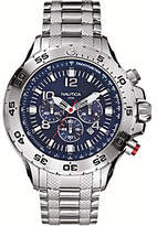 Nautica Men's Stainless Steel Blue Dial AnalogWatch