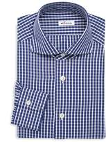 Kiton Contemporary-Fit Check Dress Shirt