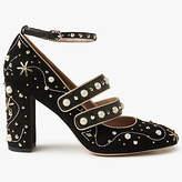 Sam Edelman Semor Embellished Block Heeled Court Shoes, Black