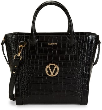 Mario Valentino Valentino By Charmont Croc-Embossed Leather Tote