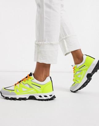 ASOS DESIGN Dex chunky hiker sneakers in neon yellow