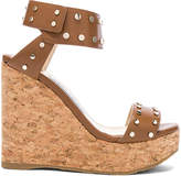Jimmy Choo Nelly 120 Leather Wedges