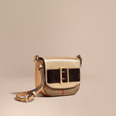 Burberry Buckled Bow Metallic Leather Crossbody Bag
