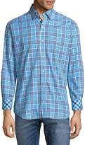 Tailorbyrd Men's Square Cotton Button-Down Shirt