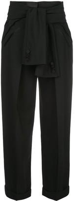 Alexander Wang Deconstructed Tie-Waist Tuxedo Trousers