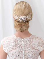 Etsy Floral Back Comb, Bridal Hair Comb, Swarovski Crystal Hair Comb, Wedding Back Comb, Bridal Hair Acce