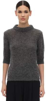 Lardini Short Sleeve Mohair Blend Sweater
