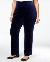 Karen Scott Plus Size Velour Pull-On Pants, Only at Macy's