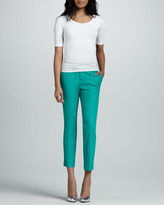 7 For All Mankind Slim Chino Pants, Coated Tropical Green