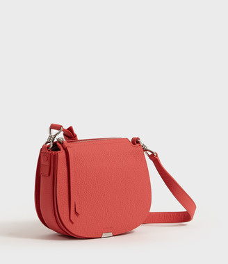 AllSaints Captain Lea Leather Small Round Crossbody Bag