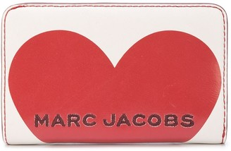 Marc Jacobs Heart logo compact wallet