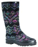 Muk Luks Women's Annabelle Space Dye Rain Boots - Black