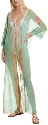 Adriana Degreas Lace Silk Cover-Up
