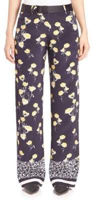 Mother of Pearl Ruthie Silk Wide-Leg Pants