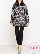 Marc Jacobs Snow Leopard Cropped Jacket With Fur Collar