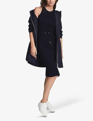 Reiss Josephine drawcord waist knitted midi dress