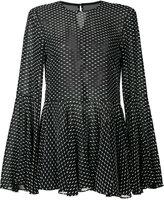 Rosetta Getty point d'esprit blouse - women - Silk/Viscose/Polyester - 0