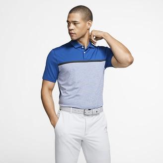 Nike Men's Striped Golf Polo Dri-FIT Tiger Woods Vapor