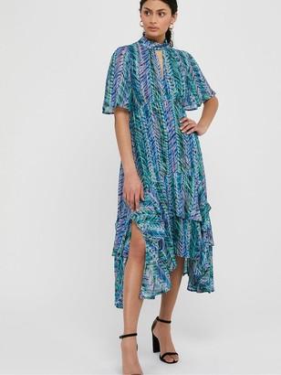 Monsoon Aaliyah Print Hanky Hem Dress - Blue