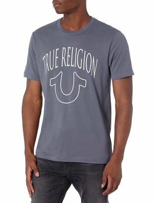 True Religion Men's TR Graphic Short Sleeve Crewneck Tee