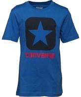 Converse Junior Boys Boxstar T-Shirt Oxygen Blue