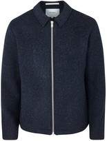 Norse Projects Elliot Navy Wool Fleece Jacket
