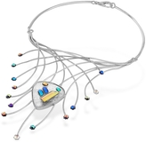 Forzieri Fireworks Glass Stones Sterling Silver Necklace