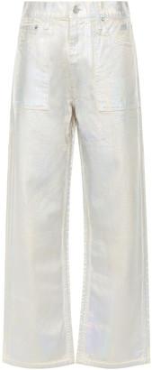 Helmut Lang Metallic Coated High-rise Straight-leg Jeans
