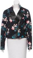Sachin + Babi Cropped Floral Print Jacket