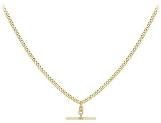 Love Gold 9ct Gold T Bar Necklace