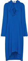 Balenciaga Ruffle-trimmed Georgette Dress - FR36