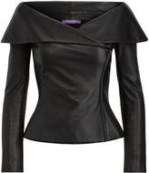 Ralph Lauren Maxine Leather Zip Jacket