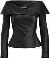 Ralph Lauren Maxine Leather Zip Jacket