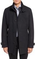BOSS Men's Camlow Wool Blend Twill Coat With Inset Bib