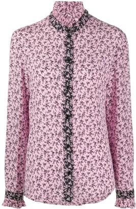 Philosophy di Lorenzo Serafini Ruffle-Collar Floral-Print Blouse