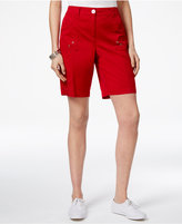 Karen Scott Curved-Pocket Shorts, Only at Macy's