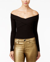 Material Girl Juniors' Off-The-Shoulder Bodysuit, Only at Macy's