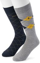 Izod Men's 2-pack Argyle Crew Socks
