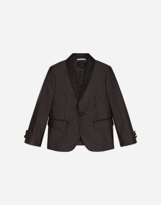 Dolce & Gabbana Single-Breasted Suit In Small Polka Dot Print Jacquard