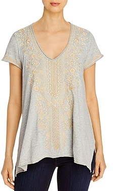 Johnny Was Kemi Embroidered Linen Top