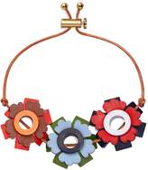Tory Burch GEO FLORAL LEATHER BRACELET