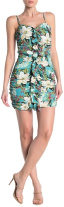 Lovers + Friends Morris Ruffle Front Floral Print Mini Dress