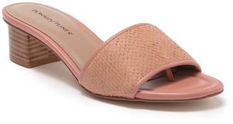 Donald J Pliner Maxx Embossed Low Heel Sandal