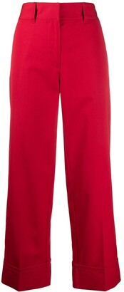 Prada Cropped High-Rise Trousers