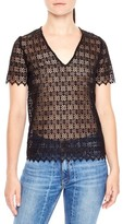 Sandro Women's V-Neck Lace Top