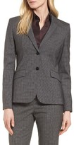 BOSS Women's Julea Plaid Stretch Wool Blazer